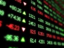 Farbiger Börsentelegrafvorstand auf Schwarzem Stockbild
