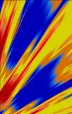 Farbiger beschmutzter Hintergrund Flecke, die von der unteren Ecke zu den Rändern in der unterschiedlichen Richtung auseinander l Lizenzfreies Stockfoto