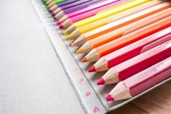 Farbiger Bleistift Lizenzfreie Stockfotos