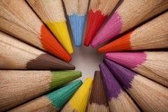 Farbiger Bleistift-Kreis Lizenzfreie Stockfotos