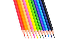 Farbiger Bleistift lokalisiert auf weißem Hintergrund Lizenzfreies Stockfoto
