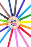 Farbiger Bleistift lokalisiert auf weißem Hintergrund Lizenzfreie Stockfotos