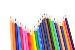 Farbiger Bleistift lokalisiert auf weißem Hintergrund Stockbilder