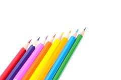 Farbiger Bleistift lokalisiert auf weißem Hintergrund Lizenzfreie Stockbilder