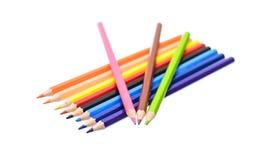 Farbiger Bleistift lokalisiert auf weißem Hintergrund Stockbild