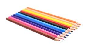 Farbiger Bleistift lokalisiert auf weißem Hintergrund Stockfotografie