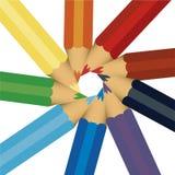 Farbiger Bleistift sortiert lizenzfreie abbildung
