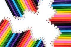 Farbiger Bleistifthintergrund Lizenzfreie Stockfotos