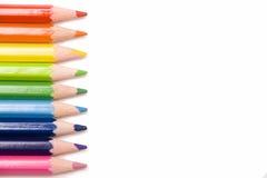 Farbiger Bleistifthintergrund Stockbild