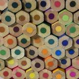 Farbiger Bleistifthintergrund Stockbilder