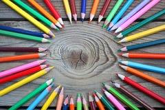 Farbiger Bleistiftkreis Lizenzfreies Stockbild
