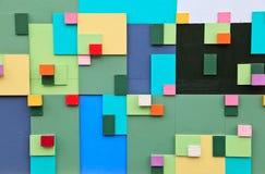 Farbiger Blockhintergrund Stockfotografie