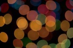 Farbiger bokeh Hintergrund Lizenzfreie Stockfotos