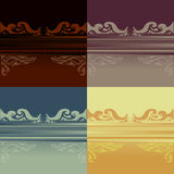 Farbiger dekorativer Einzelteilhintergrund Lizenzfreies Stockbild