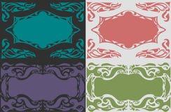 Farbiger dekorativer Einzelteilhintergrund Stockfotos
