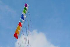 Farbiger Drachen, glücklicher Aufbau Lizenzfreies Stockfoto