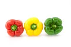 Farbiger grüner Pfeffer Lizenzfreies Stockfoto