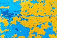 Farbiger hölzerner Hintergrund, Boden des Fischerbootes Stockbilder