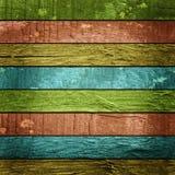 Farbiger hölzerner Plankenhintergrund Stockbilder