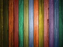 Farbiger hölzerner Plankenhintergrund lizenzfreie stockfotografie