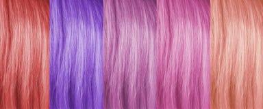 Farbiger Haarhintergrund Stockfotos