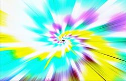 Farbiger hellfarbiger Hintergrund Stellen laufen in einer Spirale von der Mitte zu den Rändern auseinander Stockfotografie