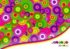 Farbiger Hintergrund der Kreise stock abbildung