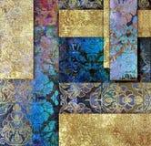 Farbiger Hintergrund der Weinlese alte Blumenflieder Lizenzfreies Stockfoto