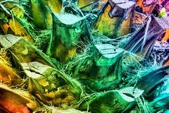 Farbiger Hintergrund Ein Fragment des Stammes einer Palme Stockbild