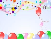 Farbiger Hintergrund mit Ballonen Stockfotos