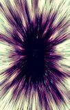 Farbiger Hintergrund von Streifen läuft von der Mitte zu den Rändern auseinander Stockfoto