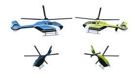Farbiger Hubschrauber Stockbild
