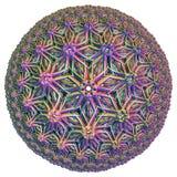 Farbiger hyperbolischer Tessellation Stockfoto