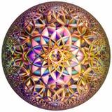 Farbiger hyperbolischer Tessellation Stockfotografie