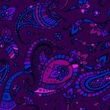 Farbiger indischer Paisley vektor abbildung