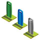Farbiger isometrischer Wolkenkratzer Lizenzfreies Stockfoto