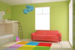 Farbiger Kindraum Stockbilder