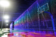 Farbiger LED-Lichtgurt Stockfotografie