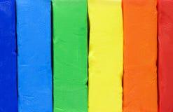 Farbiger Lehm für Formteil Stockfotos