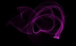 Farbiger Lichtenergie-Streifen auf schwarzem Hintergrund lizenzfreie abbildung