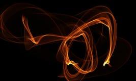 Farbiger Lichtenergie-Streifen auf schwarzem Hintergrund stock abbildung