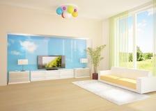 Farbiger moderner Raum Stockfoto