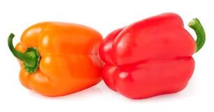 Farbiger Paprika lokalisiert auf weißem Hintergrund Stockfoto