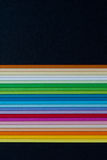 Farbiger Papstapel stockbilder