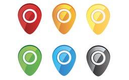 Farbiger Pin-Set Lizenzfreies Stockbild
