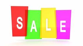 Farbiger Rahmen des Verkaufstag-Weiß Aufkleber Wiedergabe 3d stock abbildung