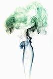 Farbiger Rauch auf Weiß 3 Stockbild