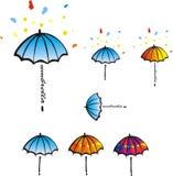 Farbiger Regenschirm Lizenzfreies Stockfoto