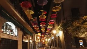 Farbiger Regenschirm Stockfotografie