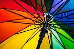 Farbiger Regenschirm, geöffnet Lizenzfreies Stockbild